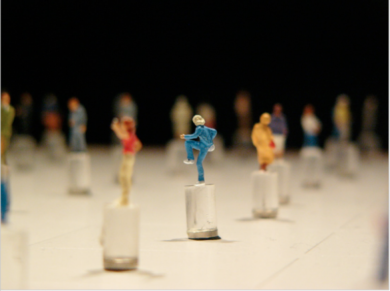 Blast Theory, Day of the Figurines, 2006, detail from mixed media installation, (Photo: public domain).