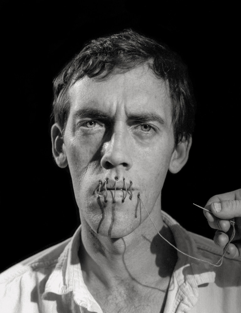 David Wojnarowicz, *Untitled*, poster image for the Rosa von Praunheim film Silence=Death, 1989, photographed by Andreas Sterzing
